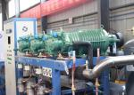 Parallel Air Cooled Screw Chiller , Semi-hermetic Industrial Water Chiller