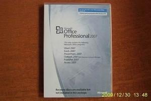 China Microsoft Office Professional 2007 OEM Software With 32bit Or 64bit CD on sale