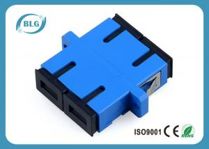 China Blue Dulplex Fiber Optic Cable Accessories Adapter For FTTH Network System on sale