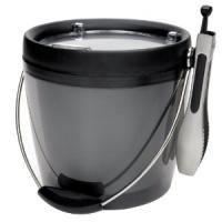 PP Round Shape Plastic Ice Buckets with tongs for wine container φ16.5 * h18.5 ( 2L )