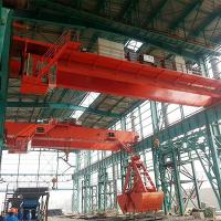 10T Double Girder Overhead Grab Crane In City Waste Incineration Plant