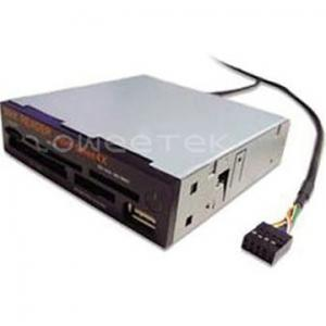 China 3.5 Inch eSATA internal card reader (MMC/RS + MS(3 in 1) + CF + M2 + SIM + eSATA) - (ZW-13010) on sale