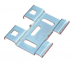 China Cable tray accessories - Q235 cold plate, hot dipping bottom connecting piece on sale