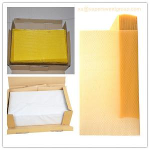 China Best quality pure natural beeswax comb foundation sheet on sale