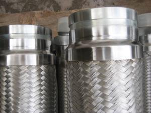 China Stainless steel flexible hose / Metal hose / Double wire braided victaulic pipe assembled on both ends on sale