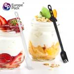 2019 eco friendly disposable dessert supplies new design fork with 3 holes