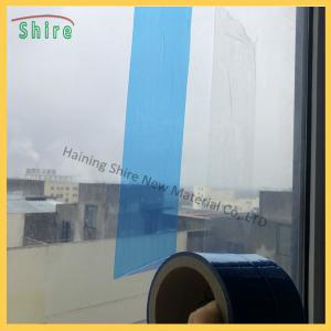 China Decoration Disposable Blue Window Glass Protection Cover Film on sale
