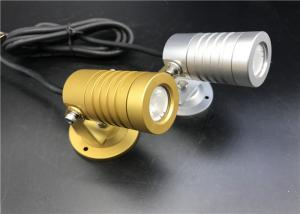 China Golden And Silivery LED Garden Spotlights With Mounting Base Landscape Lighting on sale