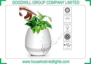China Music Flower Pot K3 LED Bluetooth Speaker , Changeable Colors DC 5V LED Smart Lights on sale