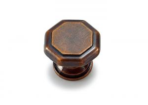 Quality Antique Brass plated Decorative Cabinet Knobs / Kitchen Drawer Knobs And Handles for sale
