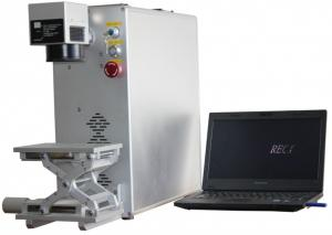 China Professional Industrial Fiber Laser Marking Machine With Aluminum Up Down Platform on sale