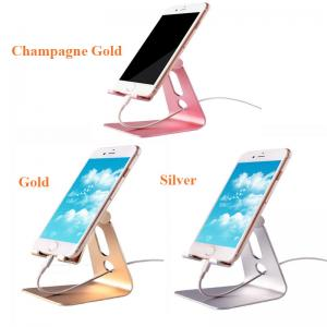 China Flexible Aluminum Alloy Lazy Phone Holder , Mobile Phone Tablet Stand Desktop Holder supplier