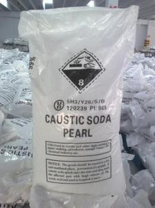 China SGS text ,BVcertification , hot sale ,free sample ,White pearl 99% caustic soda on sale