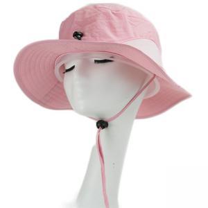 China Unisex Custom Craft Silk Print Logo Fisherman Bucket Hat Leather Strap Buckle on sale