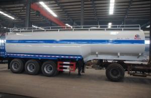 China semirreboque para a venda, reboque portátil do petroleiro da água dos eixos 30-35CBM do tipo 3*FUWA/BPW do preço CLW da venda da fábrica o melhor da água on sale