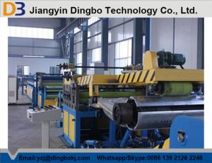 China Down Pipe Cut To Length Steel Slitting Line / Sheet Metal Slitter Machine 10m-15m/Min on sale
