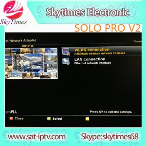 China Best price Enigma2 Linux IPTV vu solo pro v2 version with big fan support USB WIFI on sale