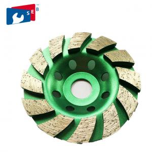 China 180mm Diamond Cup Wheel with Alloy Body for Marble Concrete Granite on sale