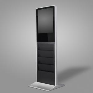 China 21.5 Inch Free Standing Coffee Shop Capacitive Multi Touch Screen Kiosk with Magazine Holder on sale