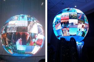 China High Definition Indoor Sphere LED Display / 3D Full Color LED Ball Display FCC Listed on sale