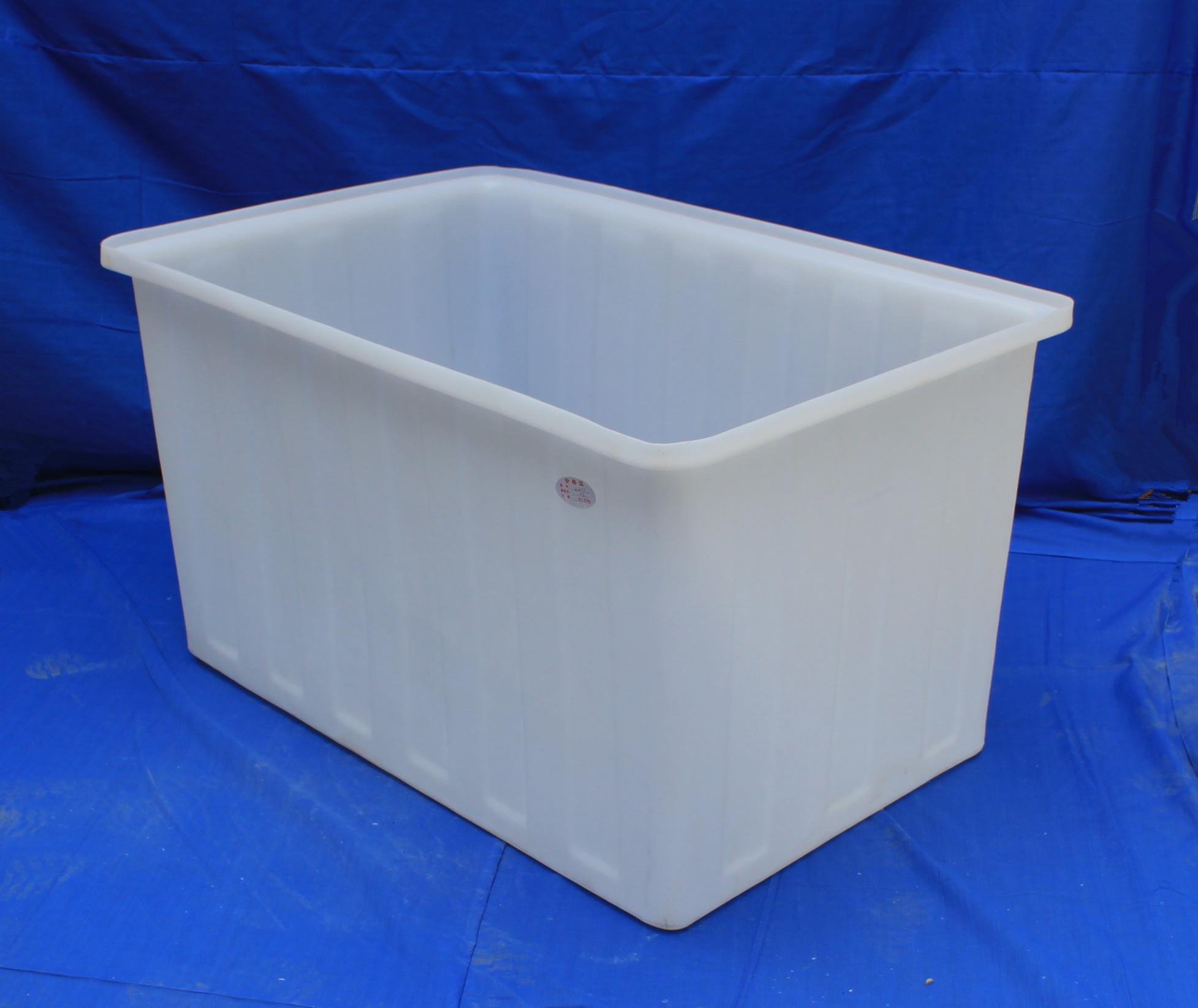 Rectangular chemical resistance durable plastic open top water