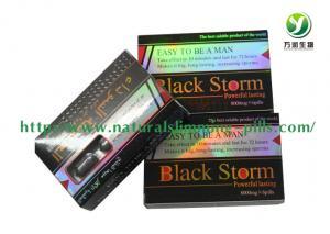 Quality Premature Ejaculation Men Male Sex Enhancer Pills / Black Storm Sex Pills for sale