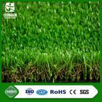 Césped sintético artificial del color de las alfombras del césped marrón del paisaje para el uso del jardín