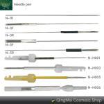 Lip / Eyebrow / Eyeliner Tattoo Machine Needle , Precision Sterile Tattoo Needles