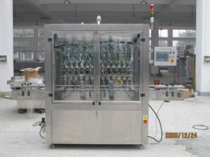China Glass bottle linear ketchup filler / paste filling machine for plastic bottle on sale
