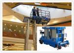 Ascenseur vertical aérien de mât 10 mètres 480 mât de la capacité quatre de kilogramme pour les stations automatiques