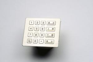 China PCI Pin Pad stainless steel and polymer Water-proof Kiosk /ATM Keypad on sale