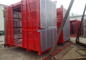 China Single Cage SC100 1t Construction Elevator Buck Hoist CE ISO SGS on sale