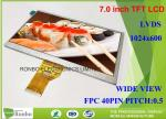 7.0 Inch 1024x600 Industrial LCD Panel 40pin LVDS Replace Innolux EJ070NA-01J TFT LCD Module
