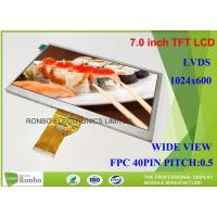 7.0 Inch TFT LCD Module Display Replace N070LGE - L41 1024 x 600 LVDS Interface