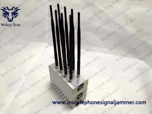 China Built-in Cooling Fan Mobile phone Jammer High Power GPS LoJack 3G Cell Phone Blocker on sale