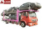 336 Horsepower Car Carrier Trailer , Durable Central Axle Car Holder Trailer
