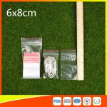 China Polythene Clear Ziplock Bags Self Press Bags Grip Seal Bag With Red Lines wholesale
