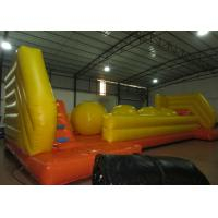 China Exciting inflatable big ball jump game wipeout ball game on sale on sale