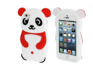 China Cute Silicone Cell Phone Case Shockproof / IPhone 5 3D Panda Silicone Case on sale