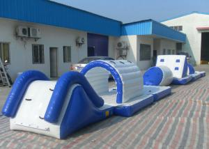 China Eco Friendly Inflatable Water Toys Tear Resistant Bouncy Obstacle Course on sale