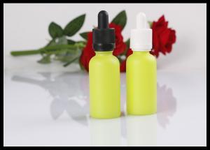 China Yellow Comestic Bottles Glass Perfume Bottles E Liquid Dropper Bottle on sale
