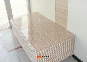 Quality Wood Grain MDF Melamine Board Partition Wall / Sliding Door Panels  For Sale ...