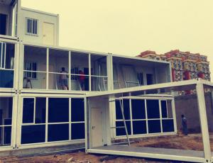 Progressive Steel Container Houses , White Color Metal