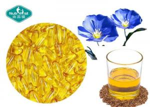 China Essential Omega 3 Fish Oil Capsules Flaxseed Oil Capsules Supports Cardiovascular System on sale