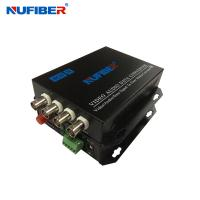 Fiber Coaxial Video Converter 4BNC 1 Fiber Video Transmitter and Receiver for CCTV