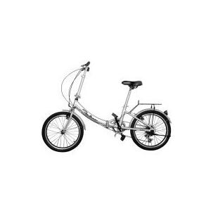 China Silver Electric Folding Bike Lightweight Adjustable Two Wheel Electric Bike on sale