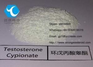 China Raw Testosterone Powder Bodybuilding Testosterone Cypionate CAS: 58-20-8 For Muscle Enhancement on sale