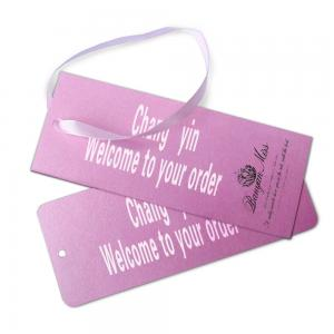 China White Cardboard Custom Card Printing Paper Hanging Tag Gift Card For Clothes on sale