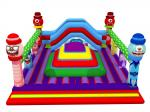 China Square Shape Inflatable Sports Games Monsters Themed Soft Air Mountain With Big Slide Inside wholesale