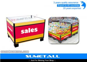 China Supermarket Promotional Display Counter Table on sale